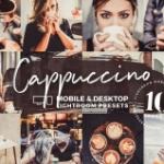 卡布奇诺咖啡原味胶片LR预设/手机APP滤镜Cappuccino Mobile Presets