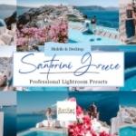 希腊旅拍蓝调风光LR预设/APP预设 Santorini Blue Lightroom Presets