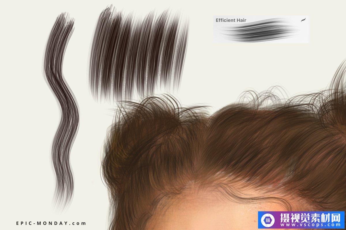 Procreate逼真的人像画笔插图5