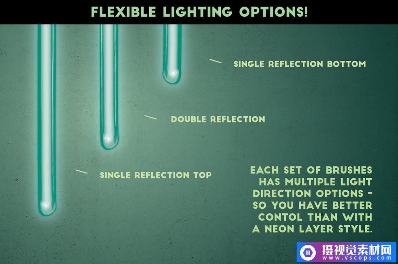 Adobe Illustrator霓虹灯-逼真的画笔套装插图3