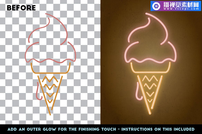 Adobe Illustrator霓虹灯-逼真的画笔套装插图5
