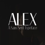 创意标题/广告设计专用英文无衬线字体家族 Alex Sans Serif Font Family