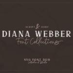 二重奏字体:自然手写纹理SVG脚本&SVG衬线字体 Diana Webber – SVG Font Duo
