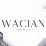 具有创造性的现代英文衬线字体家族 Wacian Serif Font Family