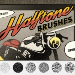 老式漫画书磨损风格Procreate纹理笔刷 Vintage Comics: Grunge Procreate Brushes