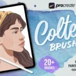 水彩插画ios创作画笔Procreate笔刷 Procreate Colter Brush – Watercolor