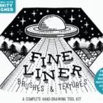 素描线条纹理&Affinity Designer笔刷 Fine Liner – Affinity Brushes