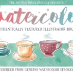 水彩笔刷素材包 Watercolor Brushes