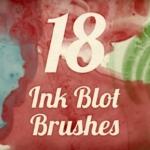 墨水印迹刷效果 Ink Blot Brush Pack 1