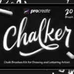 Procreat应用粉笔笔刷 Chalker – Procreat Brushes