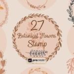 彩色素描水彩花卉元素Procreate笔刷V.1 Procreate – Floral V.1 Stamps
