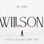现代经典杂志封面衬线字体设计 Willson – Modern Serif Font