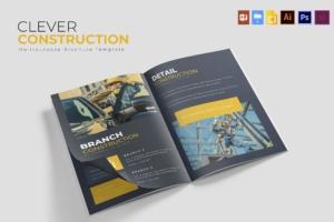 建筑公司/施工企业简介画册设计模板 Clever Construction | Brochure