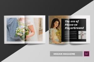 时尚生活主题杂志排版设计INDD模板 Mozaik | Magazine Template