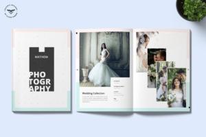 高端奢华婚纱影楼摄影画册设计模板 Photography Portfolio Brochure Template