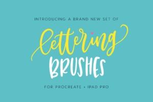 字母笔刷 Lettering Brushes for Procreate