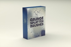 粗糙的纹理笔刷 Grunge Splatter Brushes