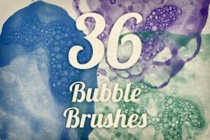 墨水泡泡纹理PS笔刷  Bubble Textures Brush Pack 1